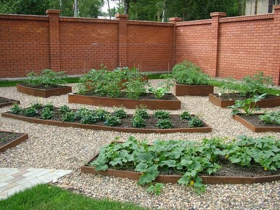 Для защиты растений от вымерзания на высоких грядках нужно сажать однолетние растения, например, лук, чеснок, а на низких многолетние, например, клубнику.