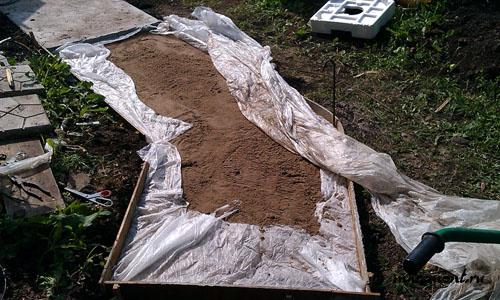 Устройство песчаной подушки.