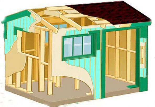 Схема постройки хозблока.