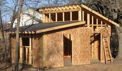 Как построить сарай своими руками - строительство 8