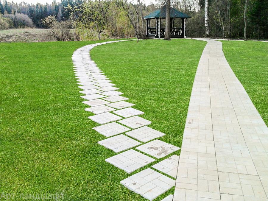 » Как сделать на даче садовую дорожку из бетона 100