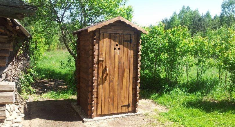 Интересный дизайн уличного туалета.