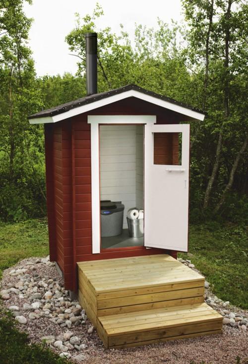 Внешний вид торфяного туалета.