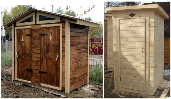 Как покрасить туалет на даче. Оригинальная идея.