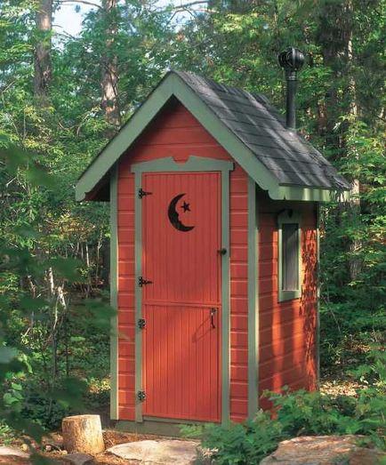 Туалет на даче из сайдинга.