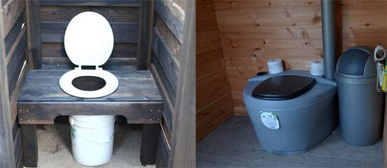 Торфяной или финский туалет не использует выгребную яму. В качестве накопителя отходов используется отдельная емкость. Перемешанные с торфом отходы могут использоваться как органическое удобрение.