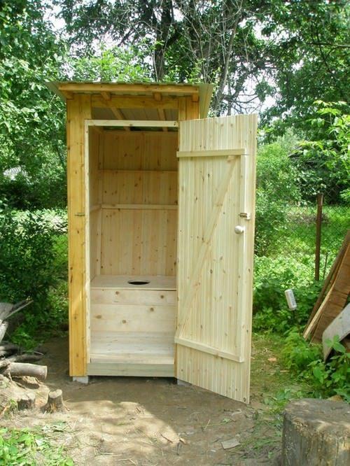 Как и из чего сделать туалет на даче 17
