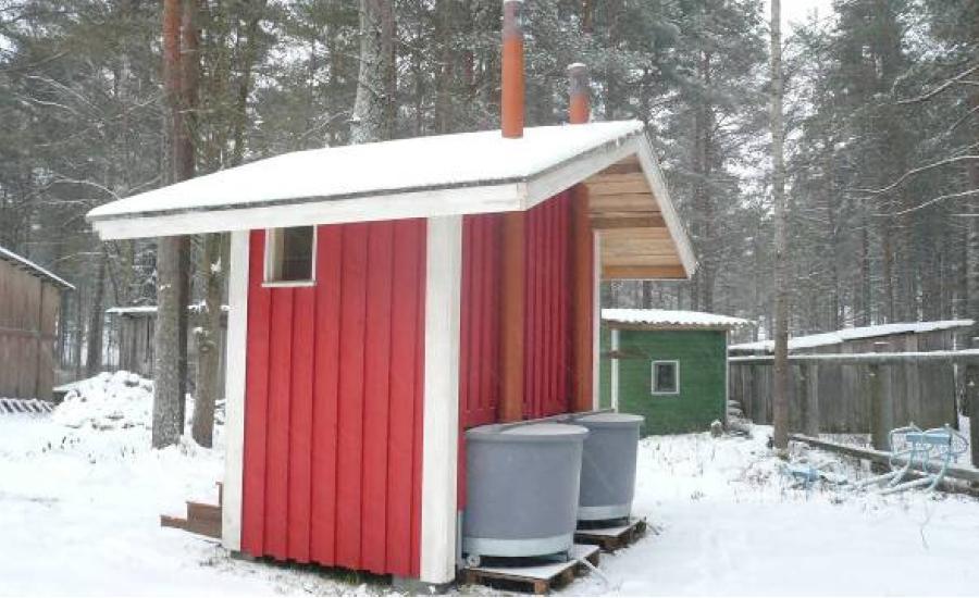 Вентиляция финского туалета.