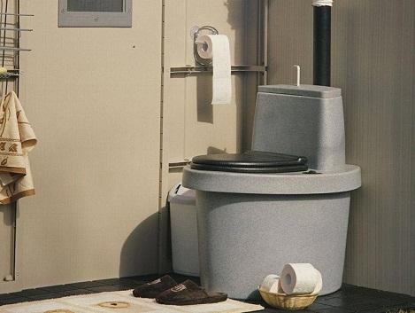 Торфяной туалет для дачи представляет собой систему в которой отделяется твердая фракция отделяется от жидкой. Жидкая фракция отводится, а твердая за счет присыпки торфом перерабатывается в удобрения для сада. Недостатком торфяного биотуалета является необходимость утилизации жидкой фракции и регулярная чистка от переработанной твердой фракции.