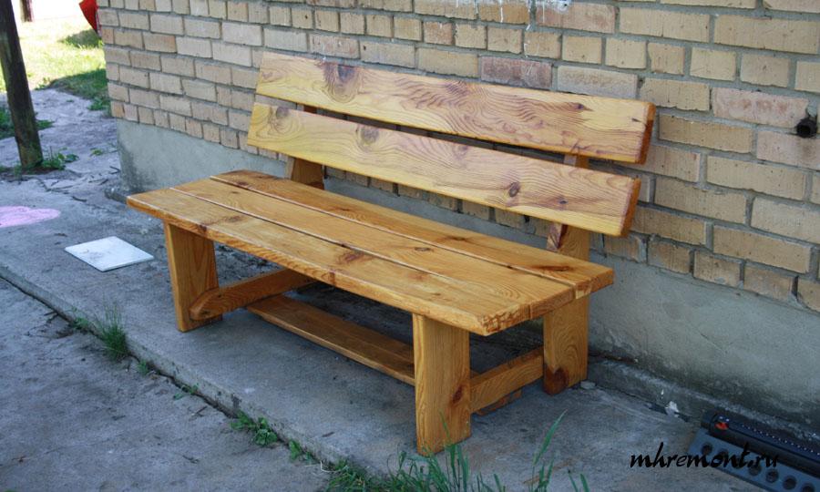 Деревянные лавочки и скамейки своими руками фото