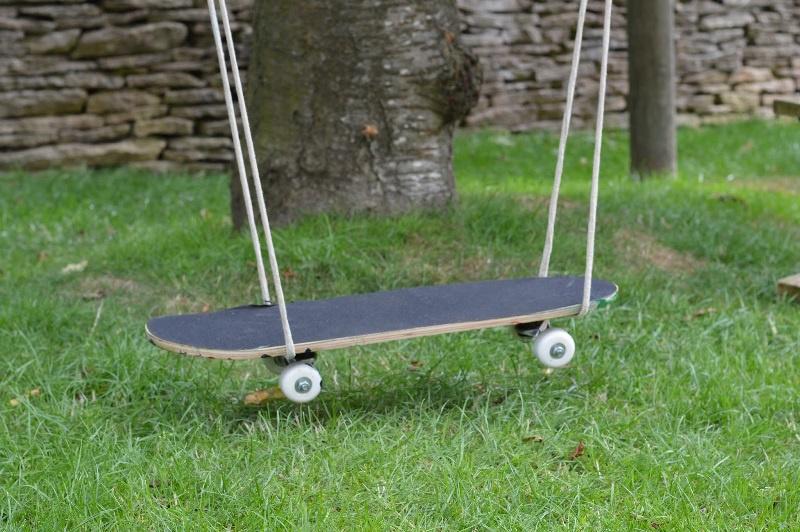 Как сделать качели из скейтборда
