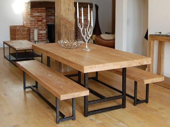 Дизайн деревянных столов.