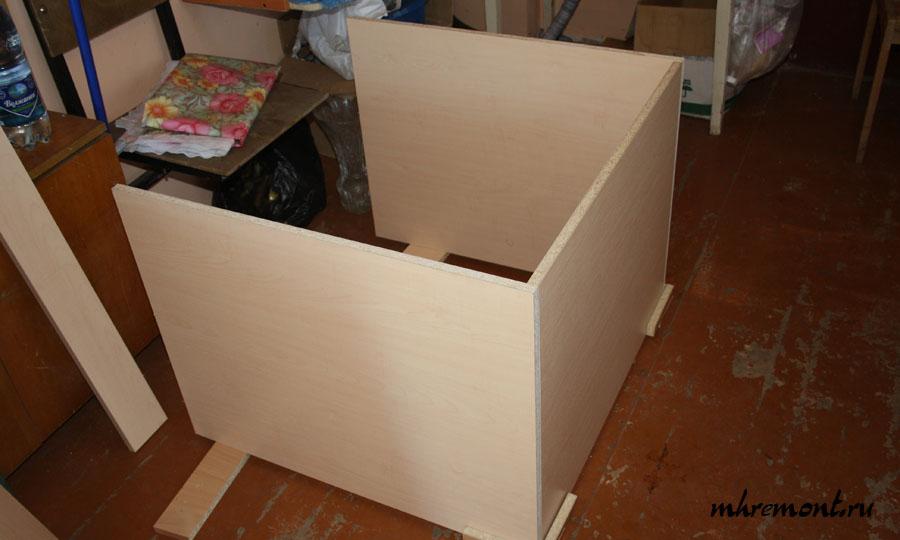 Сборка шкафа нижнего ряда