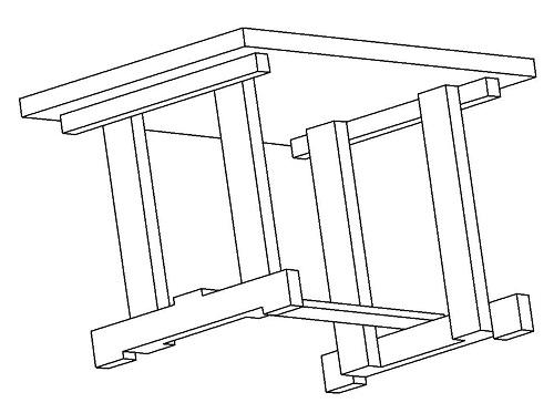 3D вид стола.