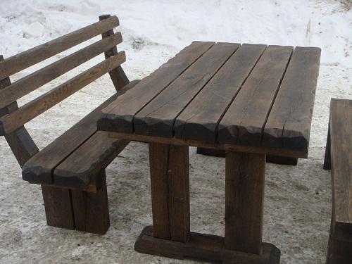 Деревянный стол своими руками на даче фото 449