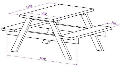 стол для дачи своими руками конструкция чертежи порядок
