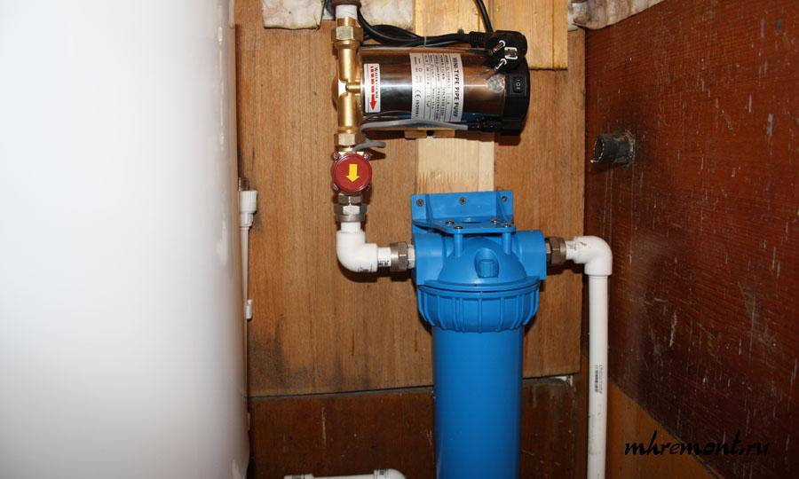 Фильтр грубой очистки воды на даче своими руками