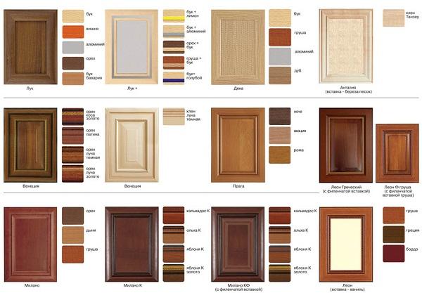 Фасад можно изготовить на заказ, тогда дверцы могут быть не стандартного размера, но сильно снижается возможность выбора. Фасад можно приобрести готовый. Здесь выбора больше, но в этом случае необходимо делать шкафы стандартного размера.