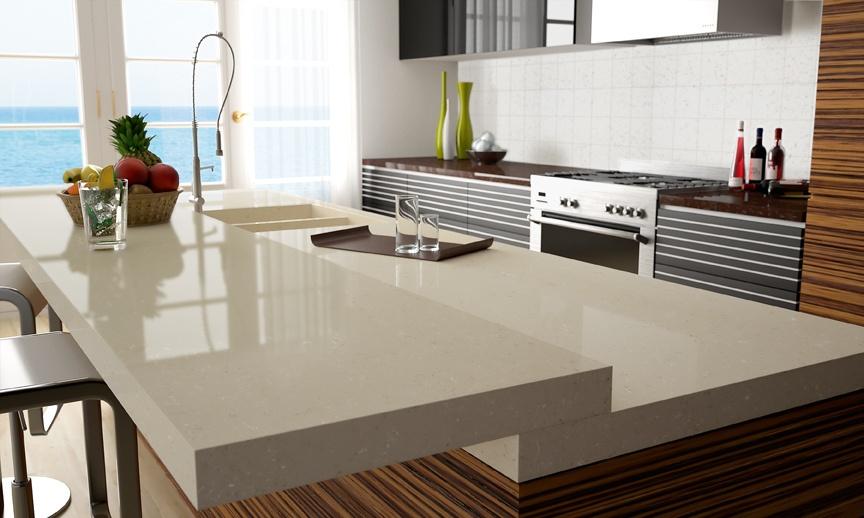 Moderne Luxuskuche Corian Marmor