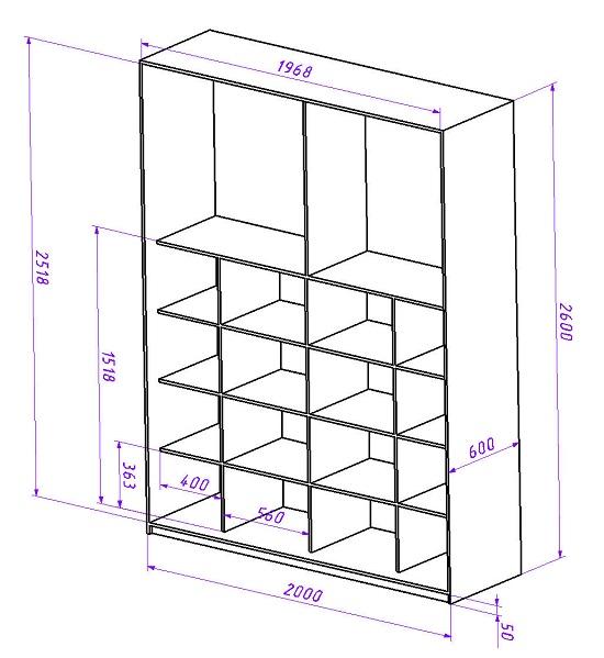 Такой вариант наполнения шкафа подразумевает применения специального подъемного механизма для верхней одежды. Верхняя одежда располагается в верхней части шкафа. В нижней части расположены полки. В данном случае все части шкафа находятся в доступной зоне. Что улучшает эргономику шкафа-купе.