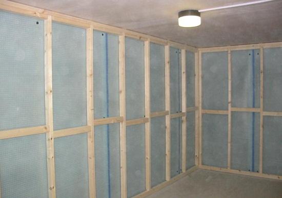 Как сделать стены из гипсокартона в деревянном 370