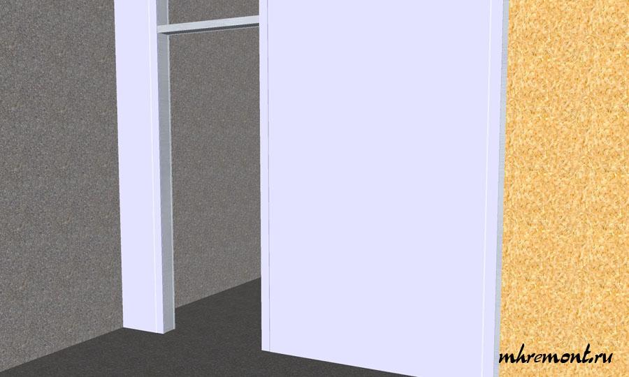 Последний этап это облицовка гипсокартоном. Для рационального использования стройматериалов и сил, при высоте потолка более 2.5 м следует применять листы гипсокартона длиной 2,5 м, при меньших листы длиной 2.5 м. Для стен применяют гипсокартон толщиной 12.5 мм.