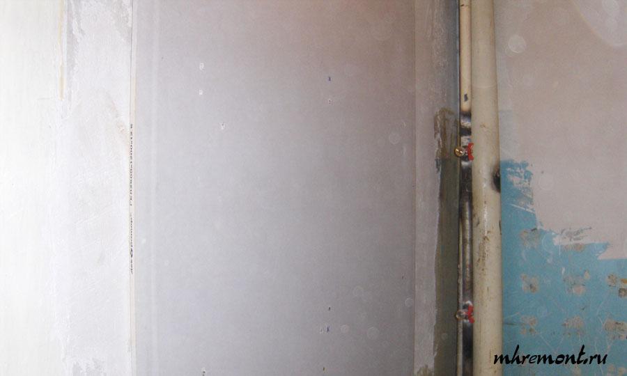 Как заделать стену гипсокартоном своими руками 78