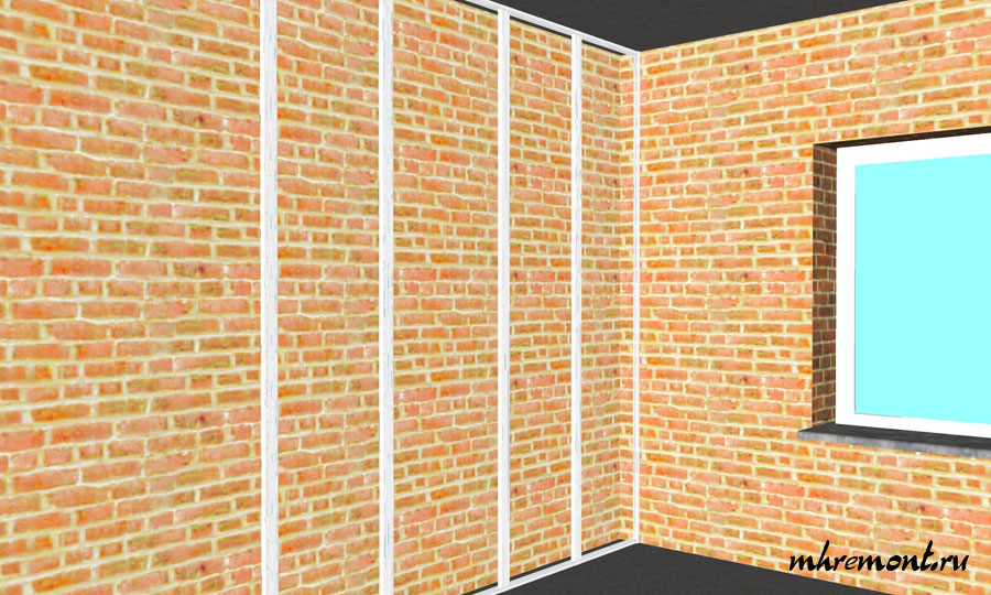 Установка ПП профилей на стену