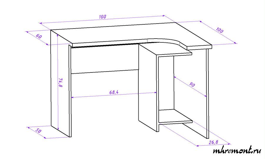 Компьютерный стол на лоджии своими руками: чертежи, примеры.