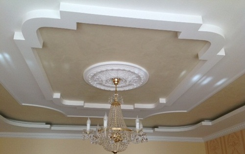 Как сделать гипс картон потолок